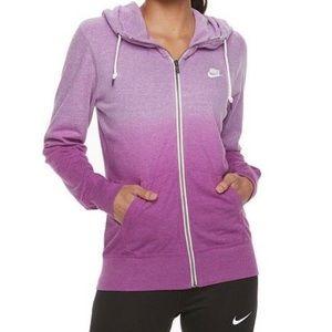 Nike Organic Cotton Blend Purple Ombré Hoodie